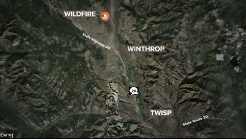 Rendezvous Fire in Okanogan Co. 90 percent contained