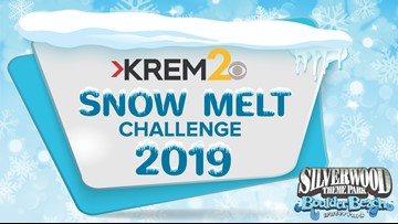 KREM's Snow Melt Challenge ends at 3:49 p.m. on Wednesday, March 20