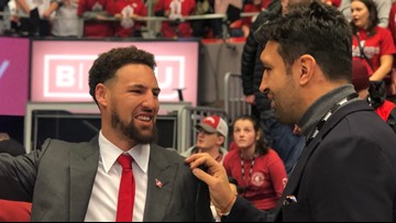 'It was very surreal': Klay Thompson reacts to WSU jersey retirement