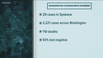 Coronavirus cases in Washington, Idaho on March 23, 2020