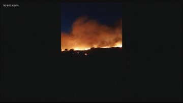 243 Fire burns at least 300 acres in Grant Co.