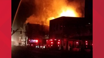 Building could collapse in downtown Colfax after large fire