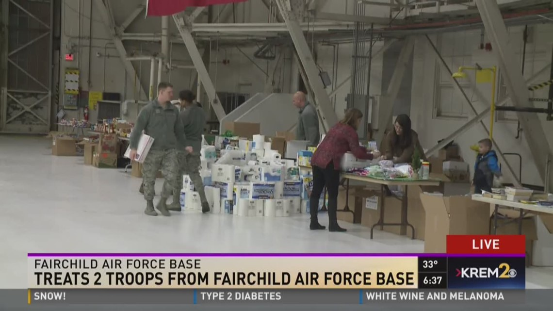 Treats 2 Troops from Fairchild AFB