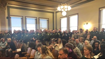 'All we can do is pray': Law enforcement gather at suspect hearing to support wounded Montana trooper