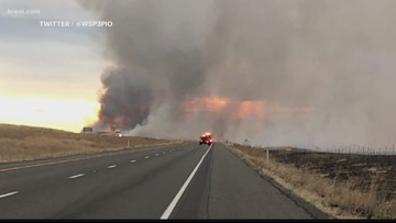 7,000-acre wildfire in Franklin County pushes smoke into Spokane area