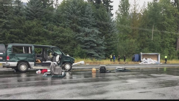 Four-vehicle crash blocks I-90 at Selle Rd  Friday
