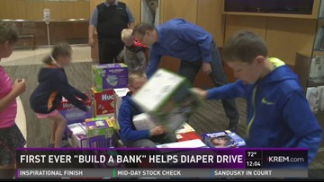 """1st-ever """"Build A Bank"""" helps Diaper Drive"""