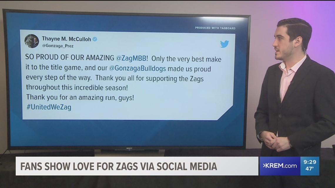 Fans show outpouring of support for Gonzaga on social media after historic season comes to an end