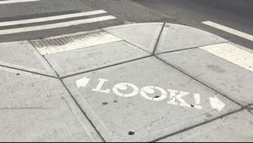 'Look' signs installed in Spokane to help keep pedestrians safe