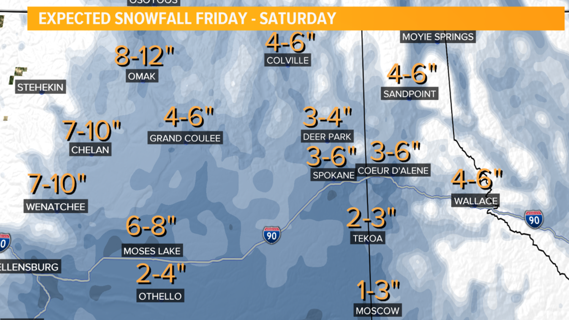 largest snowfall of the season expected to hit the inland