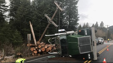 Power restored to residents in Twin Lakes area after semi-truck crash