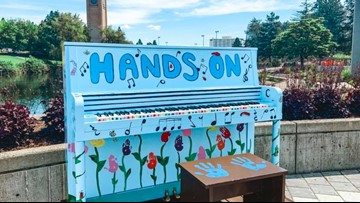 Tickle the keys in Riverfront Park: Two pianos installed for visitors