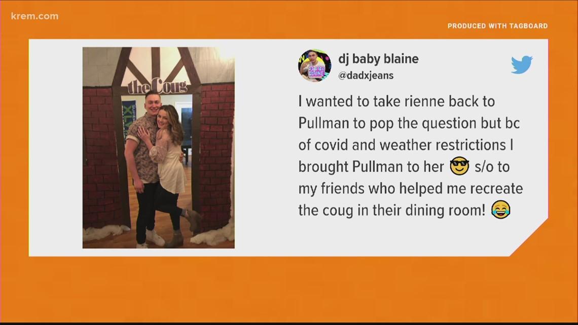 Man recreates beloved Pullman bar for marriage proposal
