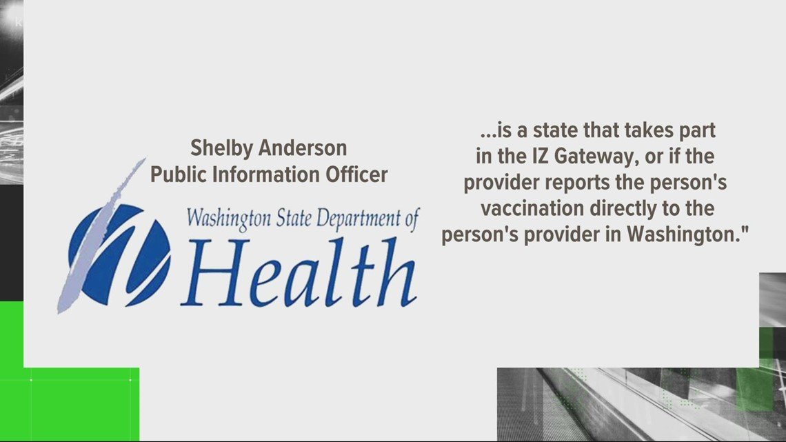 VERIFY: If you're vaccinated in a different state is your immunization counted in Washington's data?