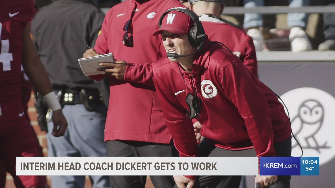 'This is a great day for perspective': WSU introduces Jake Dickert as interim head coach
