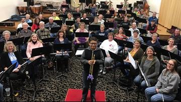 Community band donates new trumpet to Spokane boy