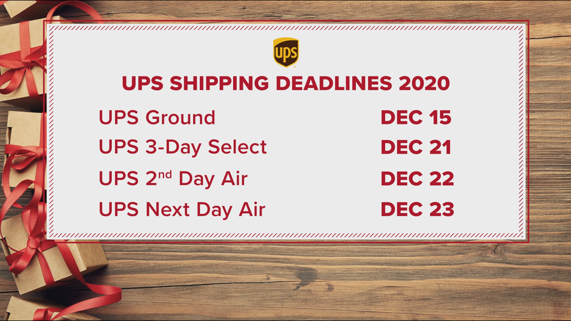 Last Day To Ship Ground Ups For Christmas 2020 When should I ship my packages for Christmas?   krem.com