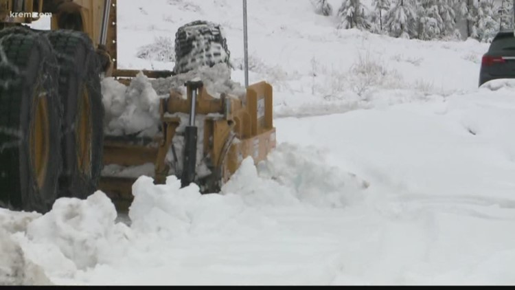 Spokane and Coeur d'Alene expecting several inches of snow