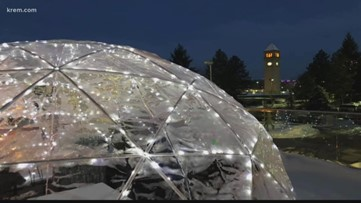 Heated igloos at the Davenport Grand are a winter getaway close to home
