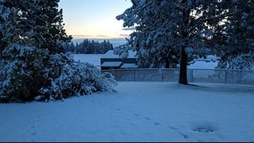 Record-breaking 4 inches of snow falls overnight in Spokane area