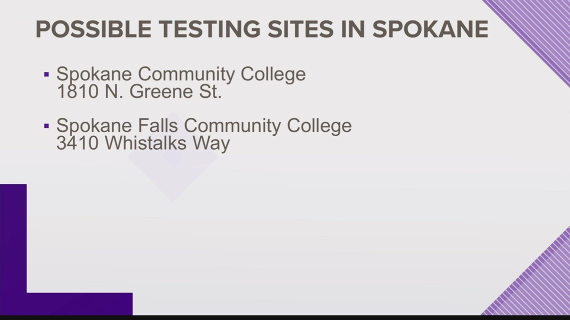 Potential COVID-19 testing sites could be opening at Spokane community colleges