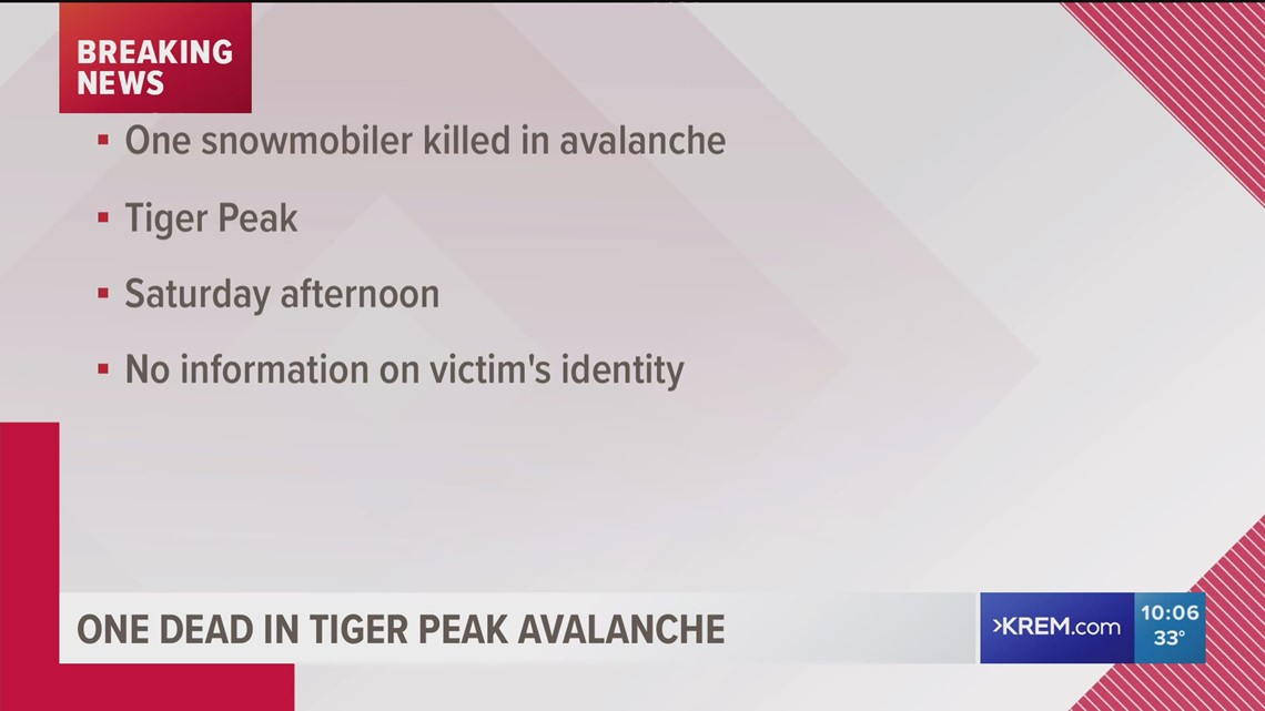 One snowmobiler killed in an avalanche in Shoshone County