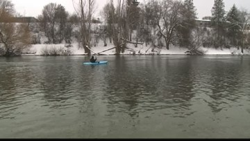 Spokane man loves to kayak - even in the winter