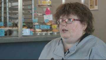 'We don't see Anna as having a disability': Retro Donuts employee shines at work