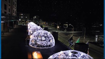 Plan a winter adventure in heated igloos at the Davenport Grand