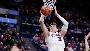No. 3 Gonzaga beats San Diego 94-59, Adam Morrison honored
