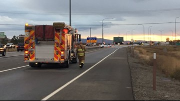Unknown gas leaking from truck on I-90 identified as Econobrite