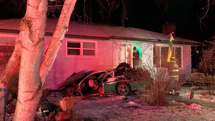 Homeowners wake to driver crashing car into their South Hill house on Friday
