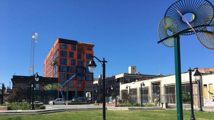 Human feces, homeless encampments found at new downtown Spokane plaza