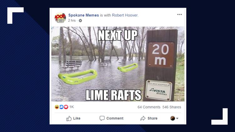 Spokane flood meme