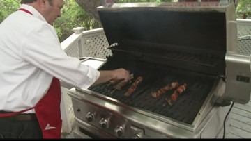 Tom's BBQ Forecast:  Spicy Beef Kabobs