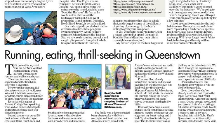Dawn Picken Travel Article