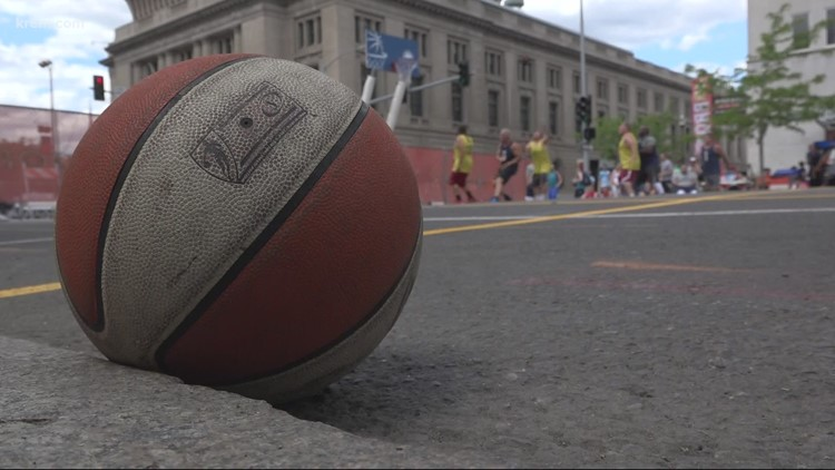 New Hoopfest court opens at Riverfront Park North Bank on Tuesday