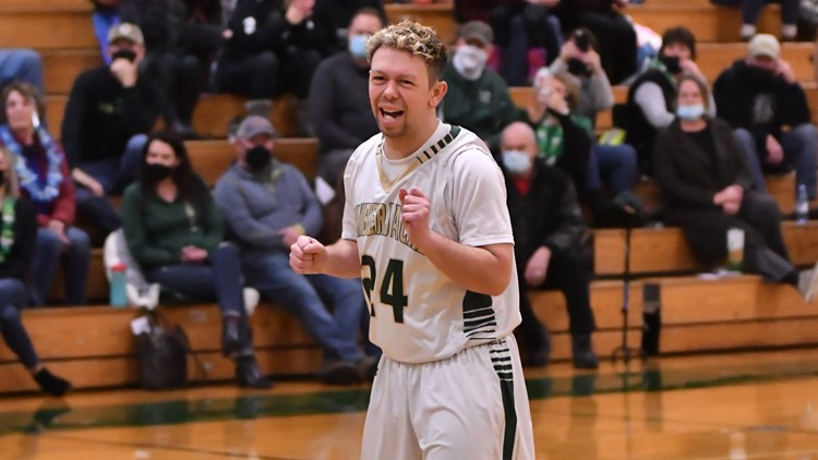 St. Maries' Carson Wicks starts on Senior Night and scores a career high