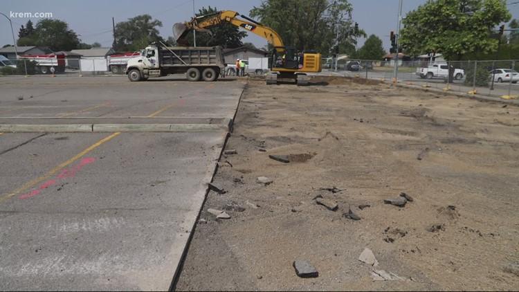 Construction continues on North Spokane Corridor