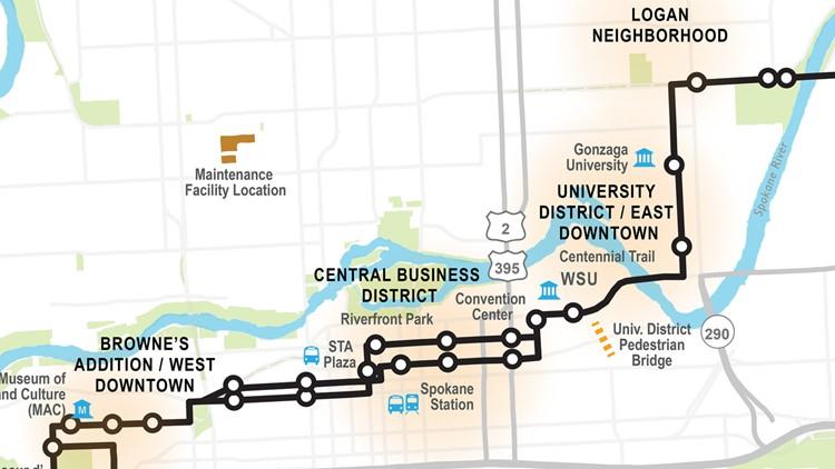 Central City Line map