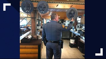 Longhorn Barbecue pays tribute to WSP troopers who stop in on their breaks