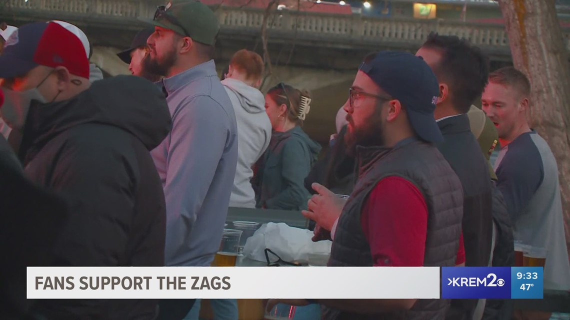 Fans gather in Spokane as Gonzaga takes on Baylor in national championship game