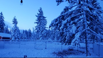 These are Wednesday snow totals for Spokane area, North Idaho