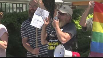Protests erupt ahead of Drag Queen Story Hour at South Hill library