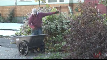 Neighbors work to clean up storm damage in hard-hit Manito neighborhood