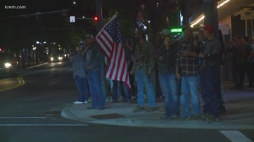 Protesters, armed citizens gather in downtown Coeur d'Alene