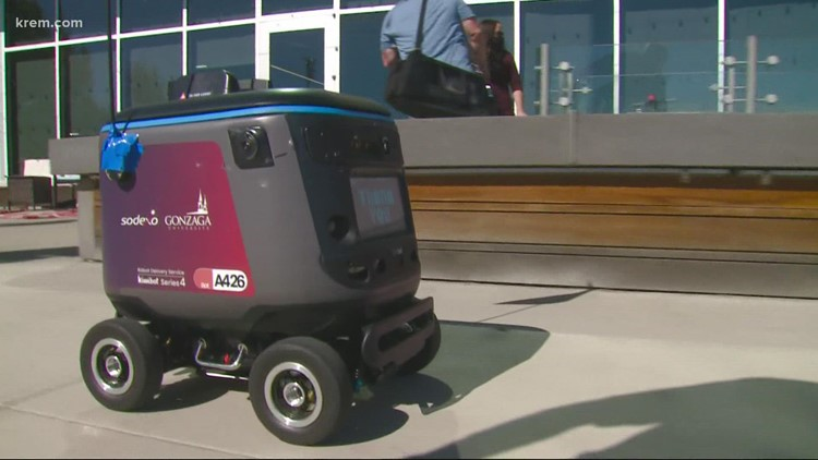 Special delivery: Robots bring food to students at Gonzaga's campus this fall
