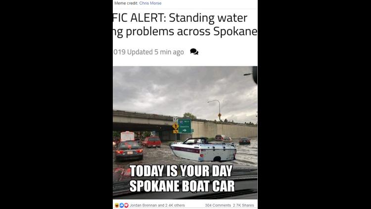 boat car flooding meme