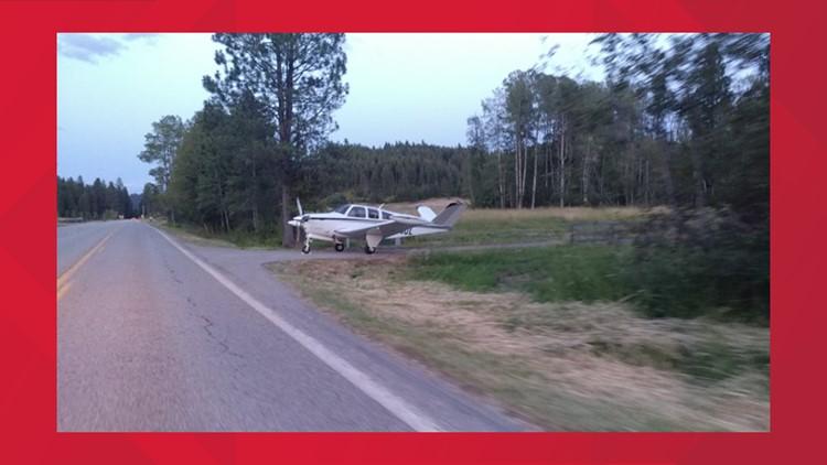 Plane makes emergency landing on Hwy 97 in N. Idaho, pulls into driveway