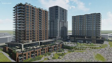New design plans filed for The Falls Tower project in Spokane show three towers instead of two
